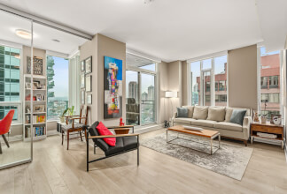 Remarkable Two Bedroom, Two Bathroom + Den NW Corner Suite at MARK ON 10th