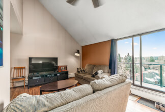 Spacious Top Floor Lofted Two Bedroom With A Massive 25' West-Facing Balcony
