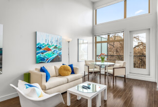 Fabulous Top Floor, North facing one bedroom at Tribeca in Mission
