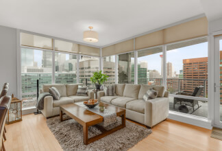Northeast Corner Suite with Picturesque Downtown Views at Castello