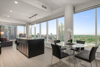 Fully Furnished Corner Two Bedroom With Spectacular Downtown Views