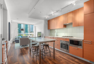 Bright and Contemporary One Bedroom Plus Den with Downtown Views at The Waterfront