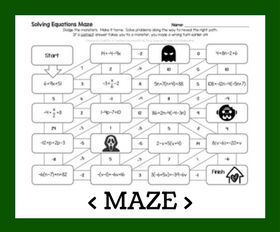 Cd maze   multi step equations