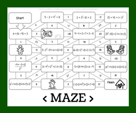 Cd maze   order of operations