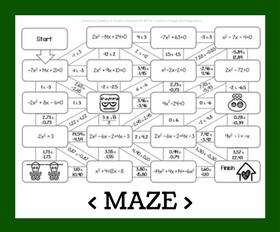 Cd maze   quadratics