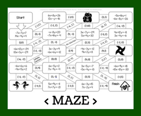 Cd maze   solving systems with elimination