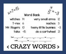 Cd crazy words   one step equations %281%29
