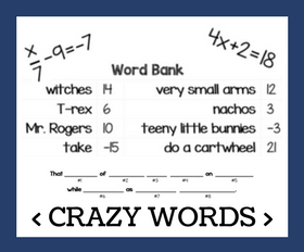 Cd crazy words   two step equations %281%29