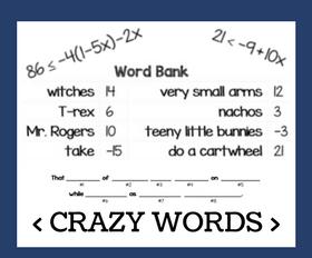 Cd crazy words   solving inequalities