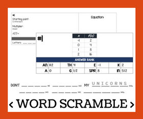 Cd word scramble   writing exponential functions from a table