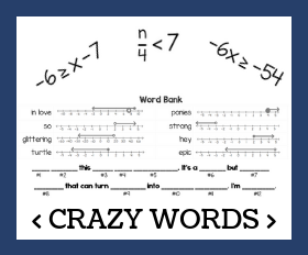 Cd crazy words   one step inequalities
