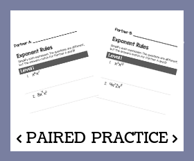 Paired practice   exponent rules