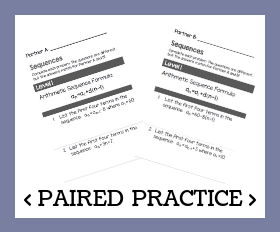 Paired practice   sequences