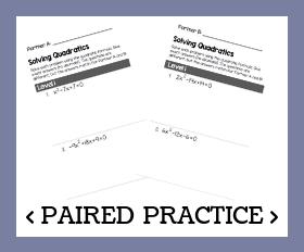 Paired practice   solving quadratics %28with qf%29