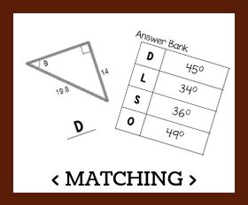 Matching   triangle trigonometry %28angles%29