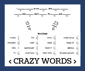 Cd crazy words   converting improper fractions
