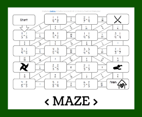 Cd maze   adding and subtracting fractions