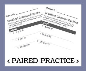 Paired practice   greatest common factors %28gcf%29