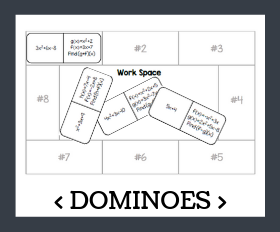 Dominoes   adding and subtracting functions