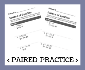 Paired practice   systems of equations with substitution %28basic%29
