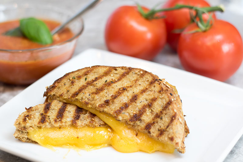 Garlic Butter Grilled Cheese Sandwich Recipe
