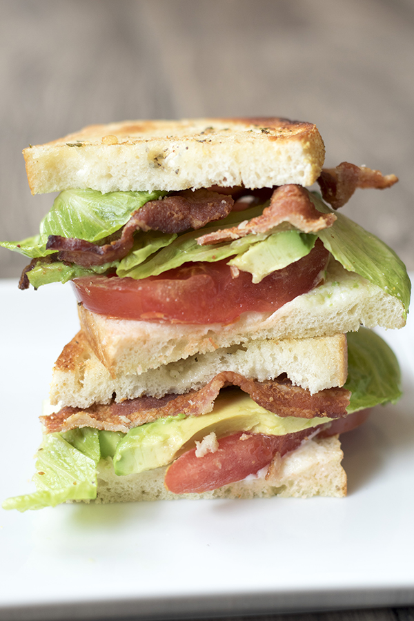garlic avocado blt