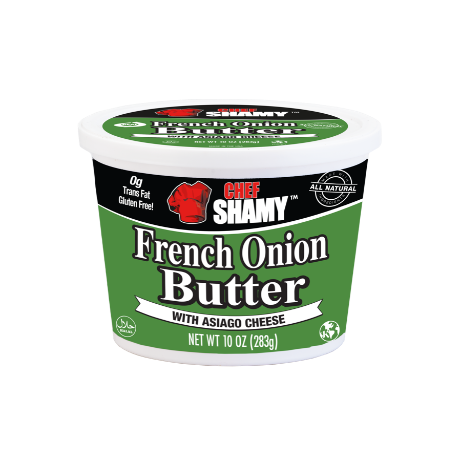 French Onion Butter with Asiago Cheese