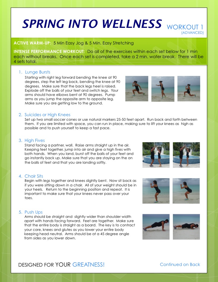 Spring Into Wellness Workout 1