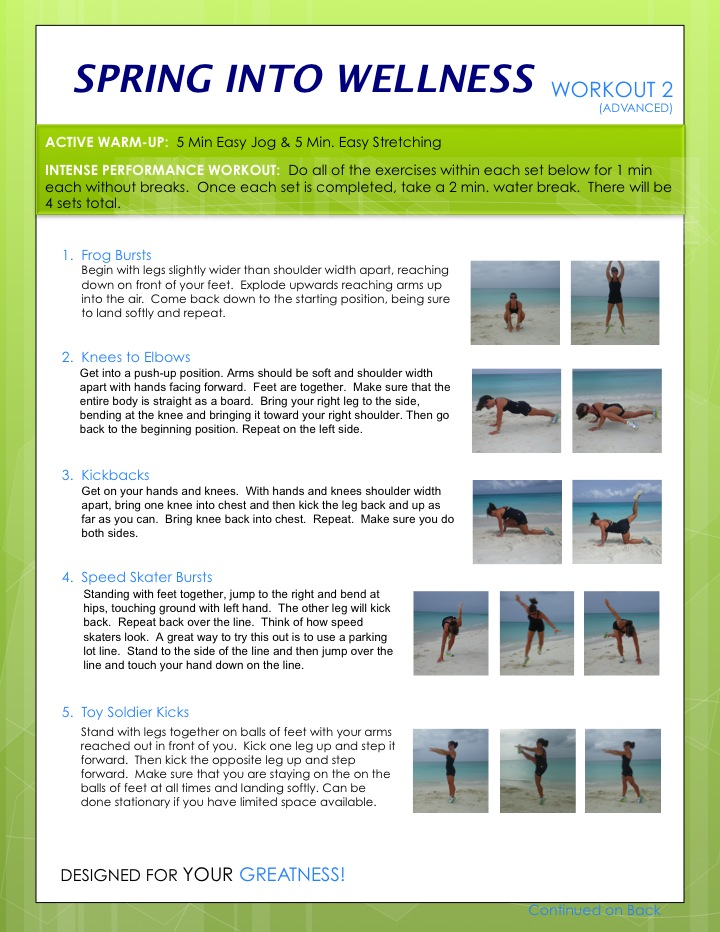 Spring Into Wellness Workout 3