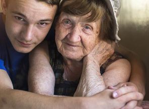 Senior woman and her grandson
