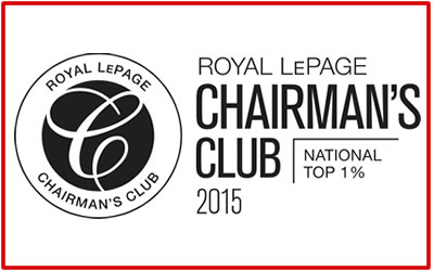 Royal LePage National Chairman's Club – Top 1% in Canada!