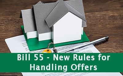Bill 55 – Changes for Handling of Offers