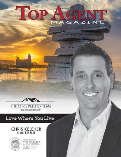 Chris Keleher Team – Cover of Top Agent Magazine for February 2016!