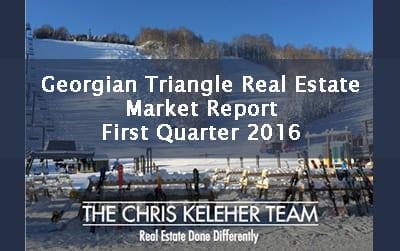 Georgian Triangle Real Estate Market Report – First Quarter 2016