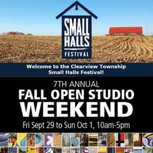 Sept. 29 to Oct. 1 – Small Halls Festival, The Art Map Open Studio Weekend