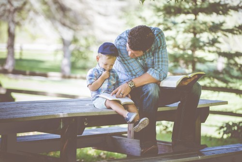 Father, Son, Bible, Study, Kids, Children, Family, Love,