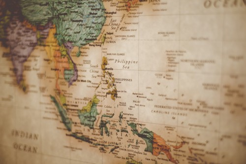 missions, map, vintage, world