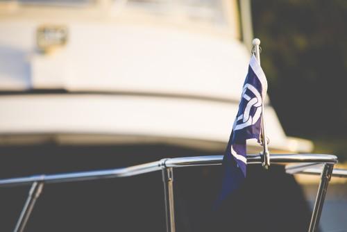 summer, boats, sun, harbor, ships, lake, flag