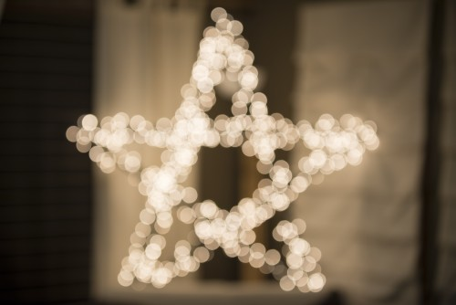 lights, decoration, star, shape, bright, christmas