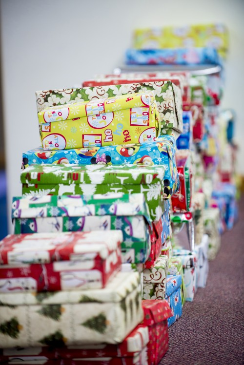 christmas, presents, gifts, wrapped, wrapping, paper