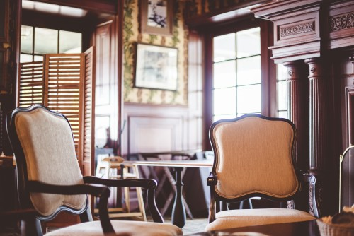 diner, chairs, room, vintage, old