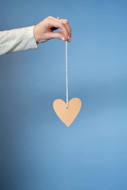 heart, holding, string, label, valentine, mother's, day, love