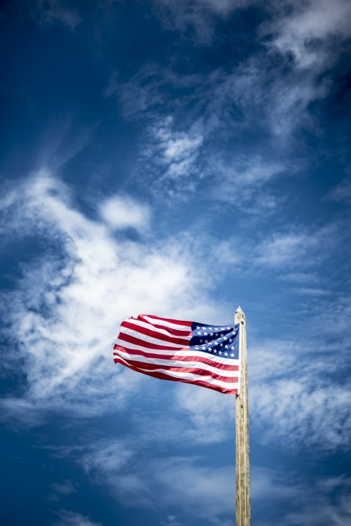 usa, america, flag, stars, stripes, clouds, sky, independence, day, fourth, july, 4th