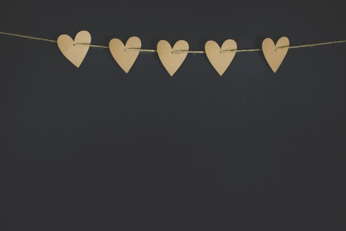 hearts, cardboard, craft, love, paper, valentine's, mothers', day
