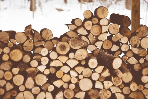 wood, logs, stack, pile, fireplace, fire, firewood, snow, winter, cold