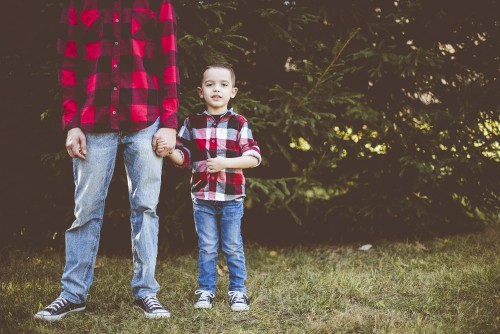 christmas, dad, father, son, child, boy, family, pine, trees, winter, holiday, season