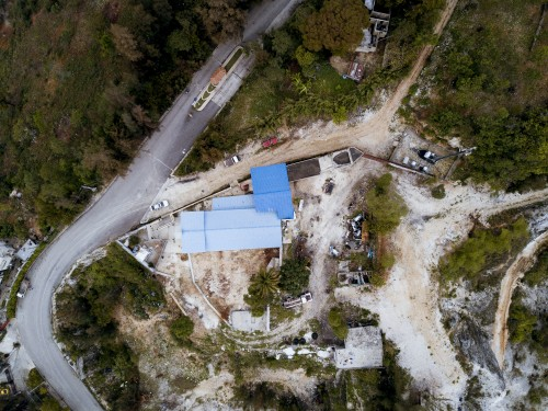 mountains, trees, forest, buildings, haiti, tropical, world, missions, nature, roads, streets, aerial, above, dirt