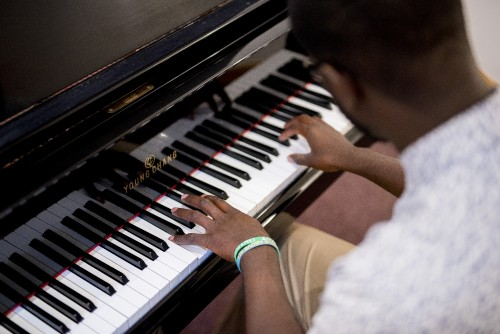 man, instrumentalist, musician, instrument, play, music, worship, hymns, song, player, piano, keys, hands