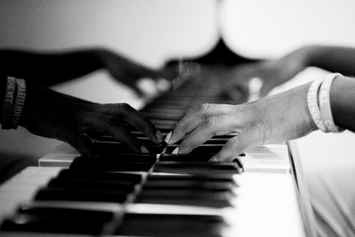 man, instrumentalist, musician, instrument, play, music, worship, hymns, song, player, piano, keys, hands, black, white