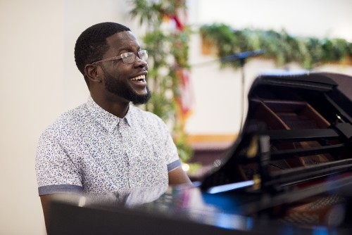 man, instrumentalist, musician, instrument, play, music, worship, hymns, song, player, piano, keys